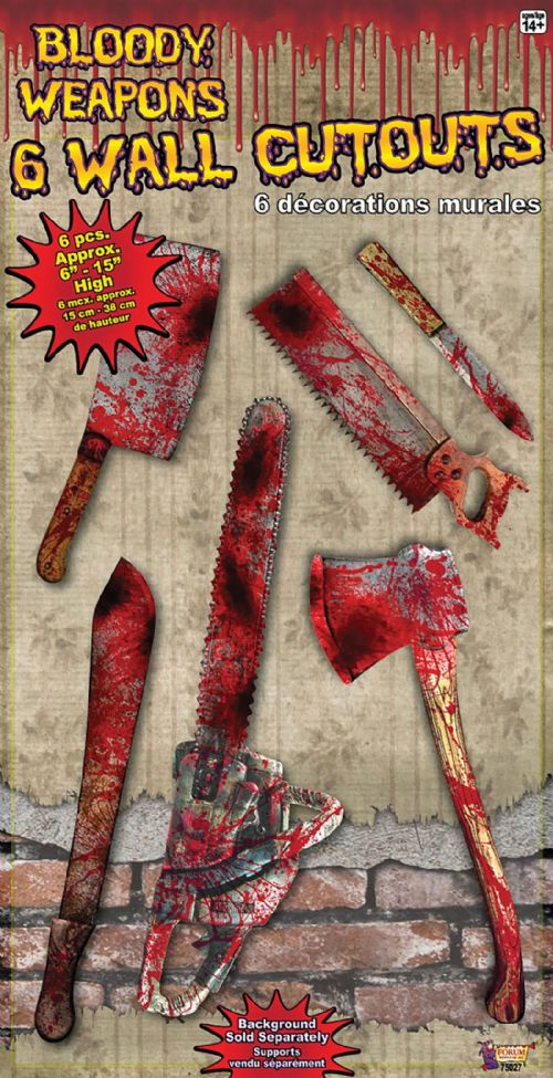 Bloody Weapon Cut Out Set Bleeding Wound Vampire Novelty Plastic Toy